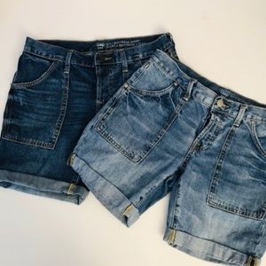 Gap (Bundle of 2) Sexy Boyfriend Cuff Shorts NWT